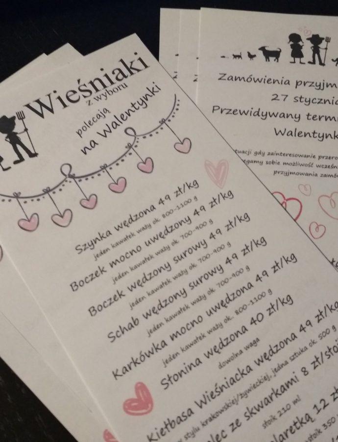 oferta – Wieśniaki wędzą na Walentynki!